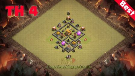 Formasi coc th4 war base layout