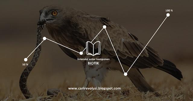 interaksi komponen biotik, interaksi antar Biotik Dalam Ekosistem