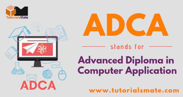 ADCA Full Form