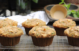 Small Batch Olive Oil Zucchini Muffins