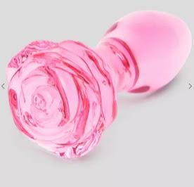 Glass Butt Plug Lovehoney Full Rose Bloom Large