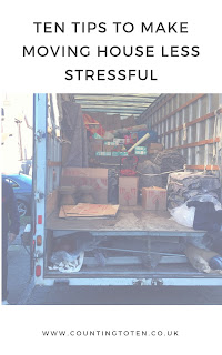Pinnable image of title text and the moving van filled with my possessions