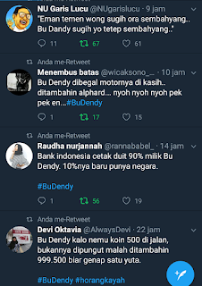 trending topic twitter bu dendy