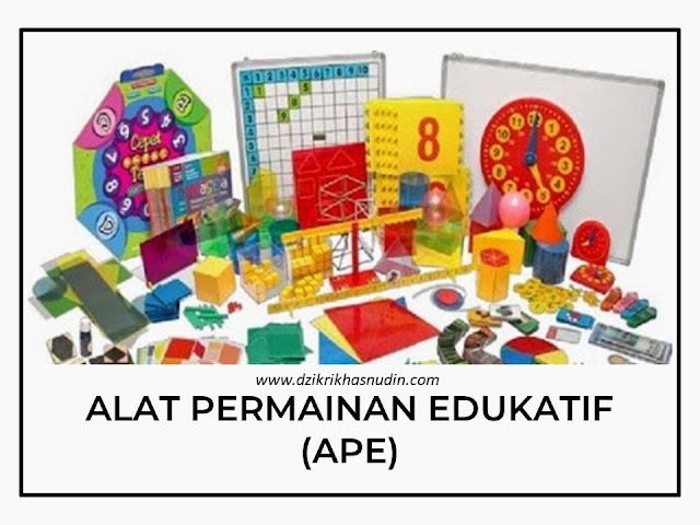 Pengertian Alat Permainan Edukatif (APE)