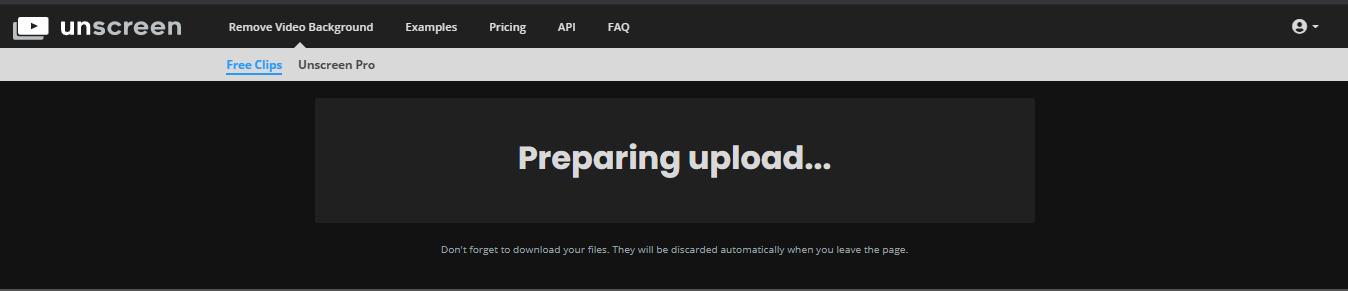 Unscreen-Preparing-Upload