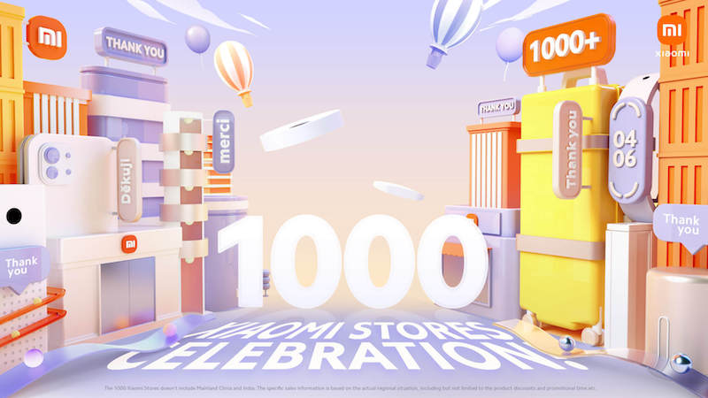 Xiaomi gives away FREE gifts along with eligible devices in celebration of 1,000 Mi stores globally
