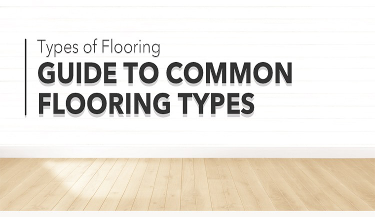 Guide to Common Flooring Types #infographic