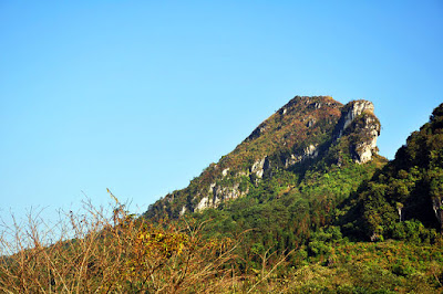 Ham Rong (Dragon Head) Mountain from the distance