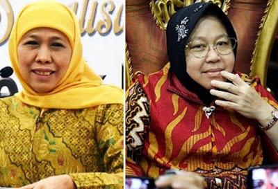 Respon Risma Klaim Surabaya Zona Hijau, Khofifah: Pusat yang Tentukan!