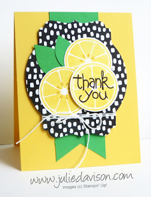 Stampin' Up! Last Chance Apple of my Eye Lemon Card #stampinup 2016 Occasions Catalog Farewell Blog Hop www.juliedavison.com