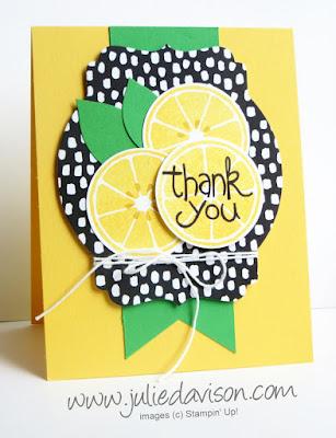 Stampin' Up! Last Chance Apple of my Eye Lemon Card #stampinup 2016 Occasions Catalog Farewell Blog Hop www.juliedavison.com