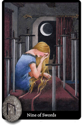 Anna K Tarot Nine of Swords Runes Uruz