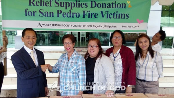 Donation for San Pedro Fire Victims, Pagadian