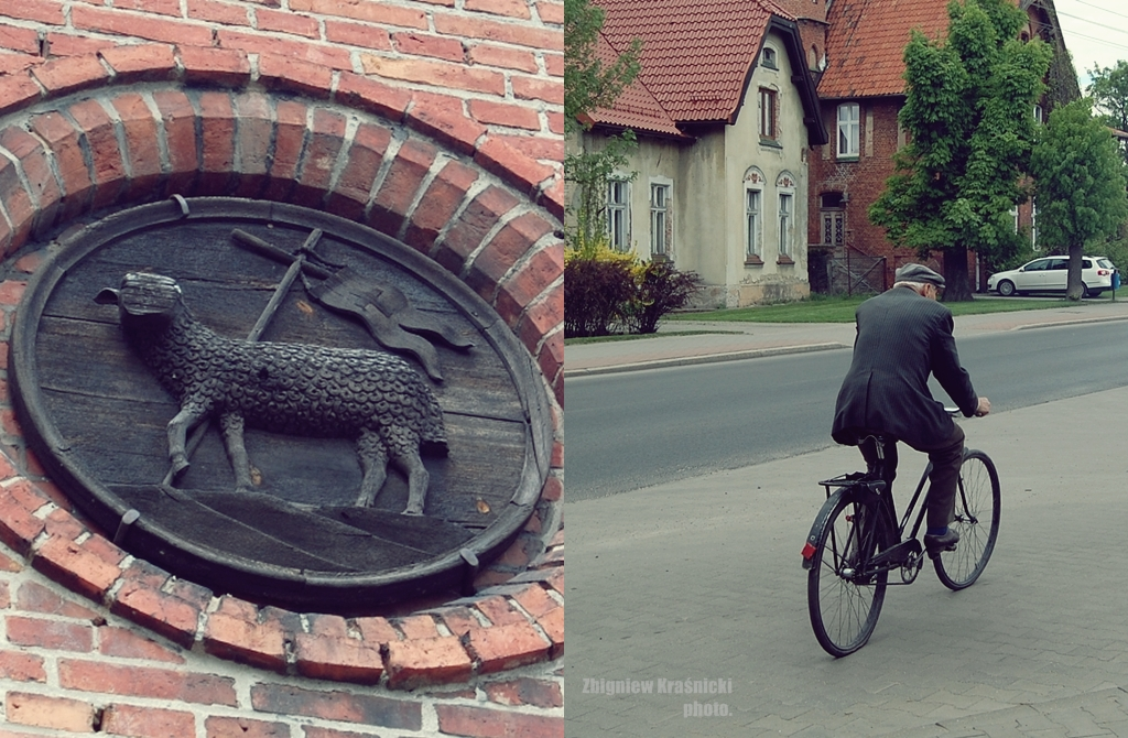 Orneckie uliczki i baranek, symbol Warmii