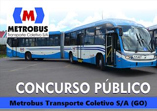 Apostila concurso Metrobus GO Transporte Coletivo de Goiânia.