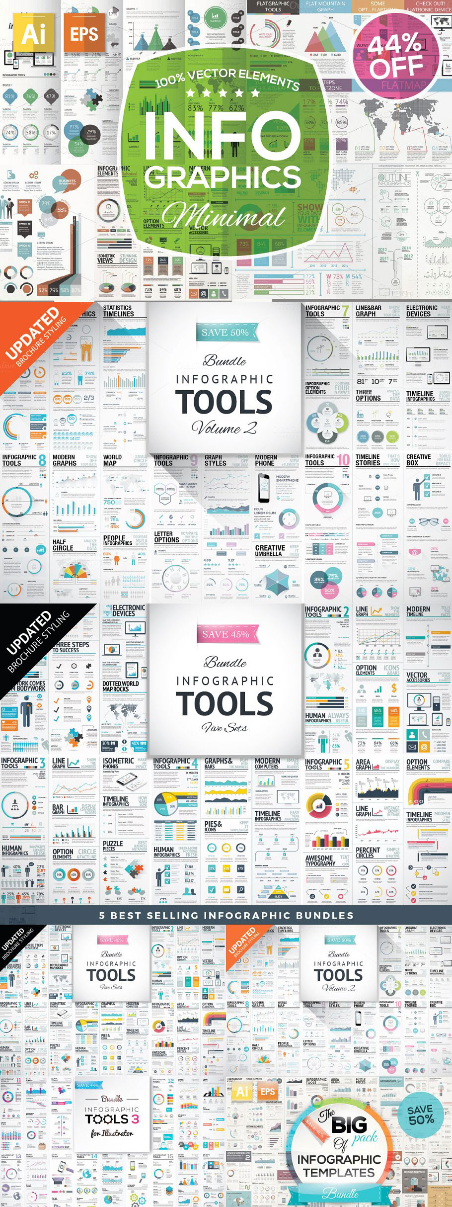 Infographic Mega Bundle 295974