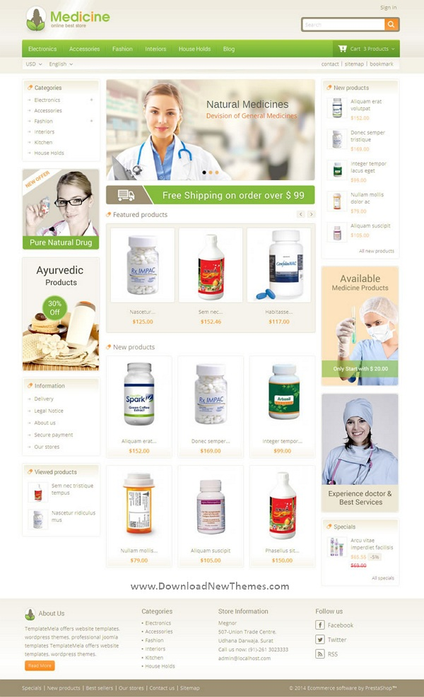 Pharmacy Prestashop Theme