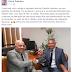 Em Brasilia prefeito Dinha visita gabinete de deputado