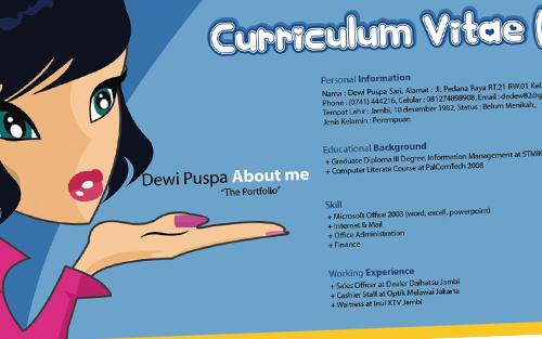 Download Contoh Curiculum Vitae Daftar Riwayat Hidup Yuk Kerja