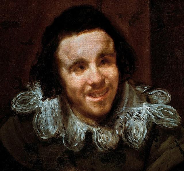 Velázquez, El bufón Calabacillas (detalle), 1635-1639