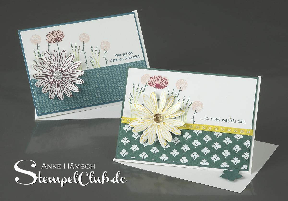 Easelcard - Aufstellkarte mit dem Stempelset Gänseblümchengruß und der passenden Handstanze