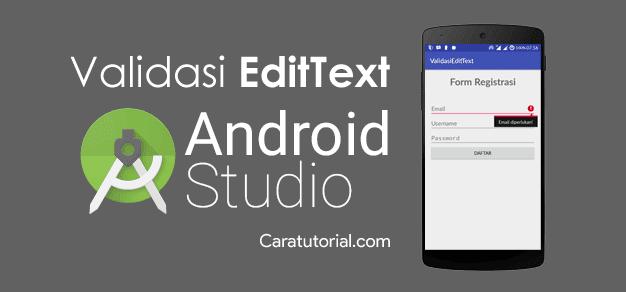 Validasi Form Input Android Studio yang Masih Kosong (Belum di isi)