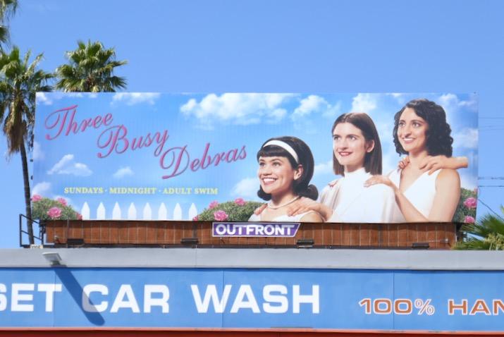 Three Busy Debras Adult Swim billboard