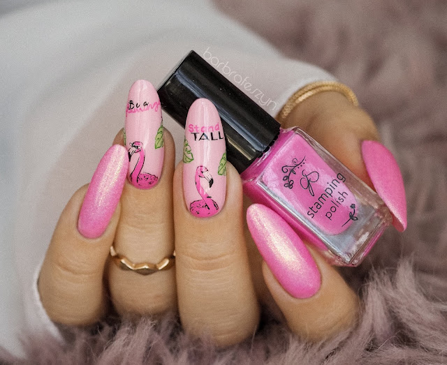 flamingo nails clear jelly stamper