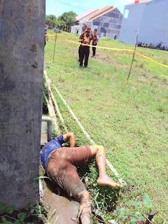 Mayat Laki-laki Ditemukan Dalam Kondisi Tengkurap  di Parit Persawahan