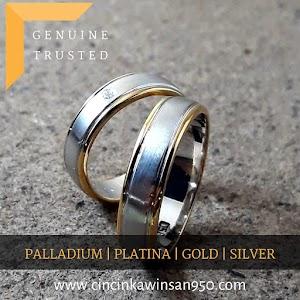 cincin kawin palladium couple 498