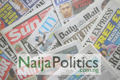 Front Page Headlines From 5 Top Newspapers In Nigeria Today, 24th September, 2020
