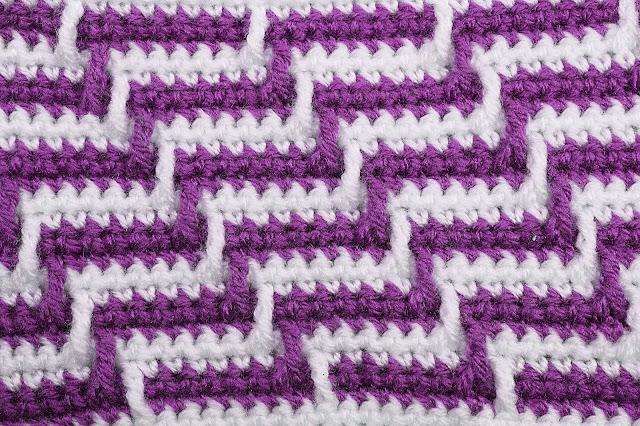 3 - Crochet Imagen Varioación de punto apache por Majovel Crochet
