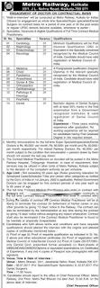 Kolkata Metro Rail Recruitment 2017