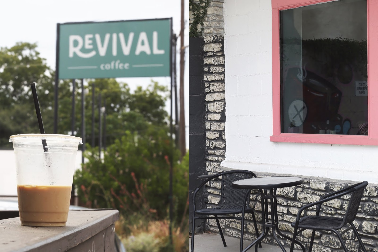 Revival Coffee Austin, Iced Coffee, Cozy Coffee Shop, Coffee Shops Vibe