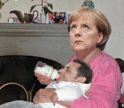 Deutschland und Frankreich in der EU Schuldenkrise vereint - Europa lustig