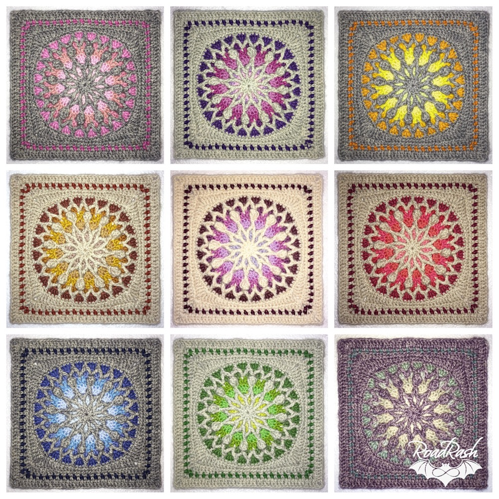 Stained Glass crochet square - pattern by www.lillabjorncrochet.com