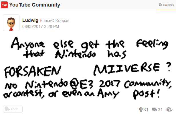 Nintendo has forsaken abandoned Miiverse no E3 post community presence 2017