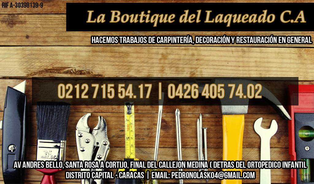 LA BOUTIQUE DEL LAQUEADO C.A en Paginas Amarillas tu guia Comercial