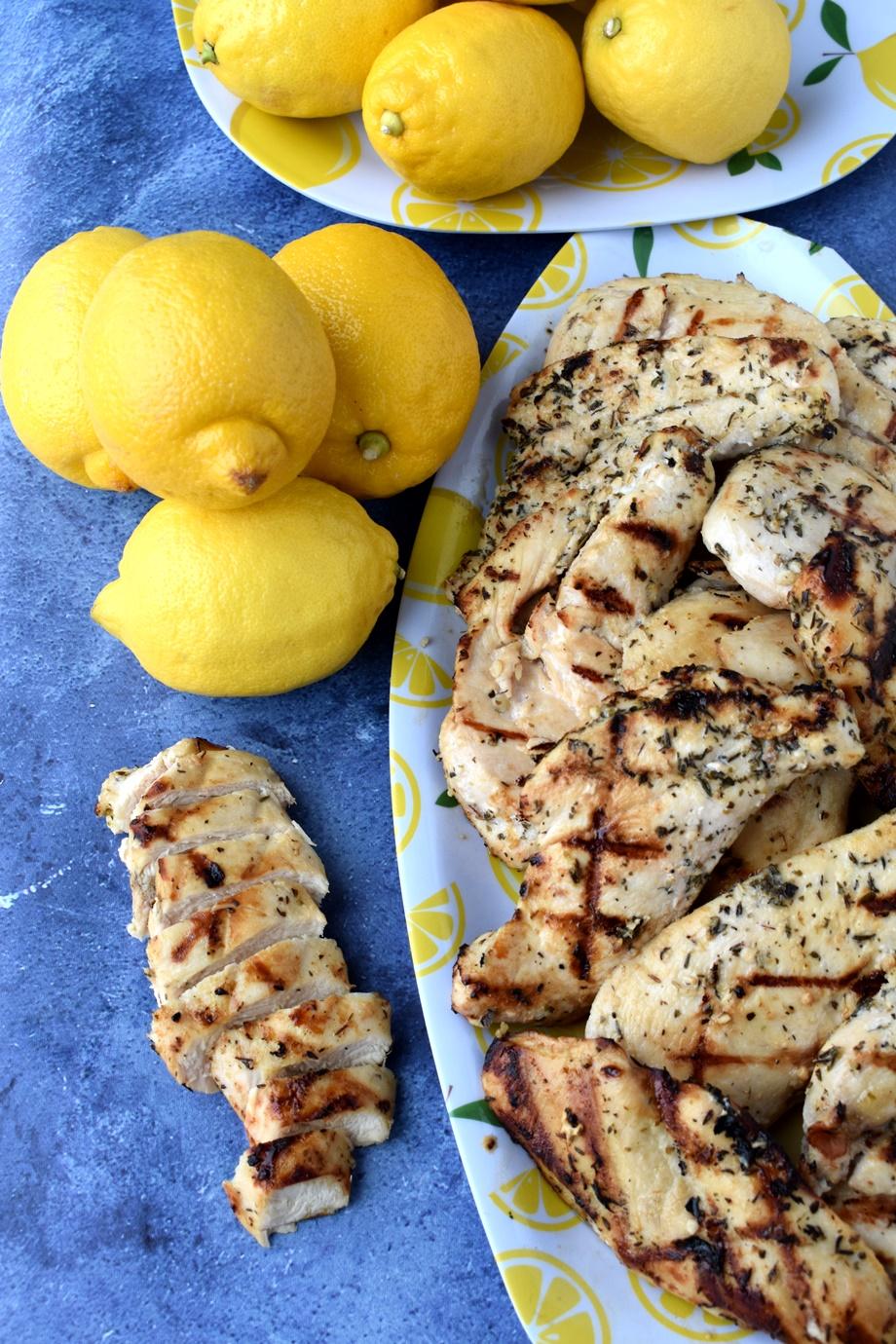 Best Greek Lemon Grilled Chicken