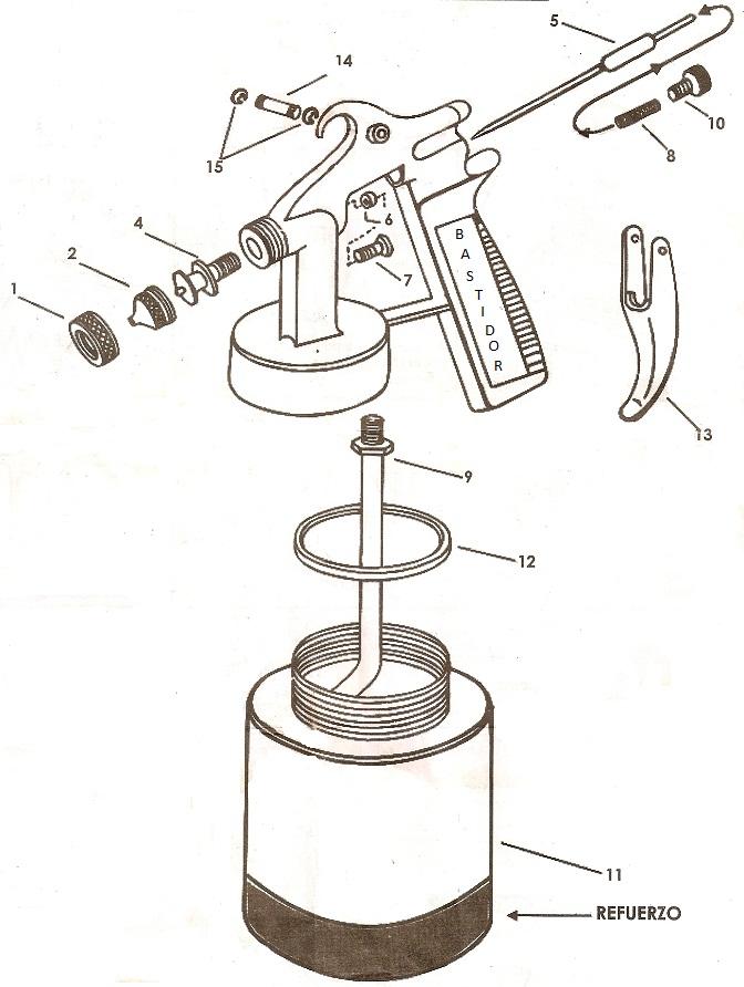 Muebles Domoticos Partes De Una Pistola De Aire Para Pintar