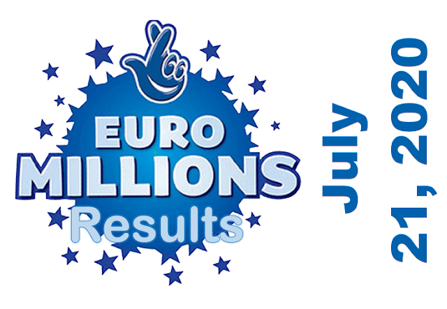 EuroMillions Results for Tuesday, July 21, 2020