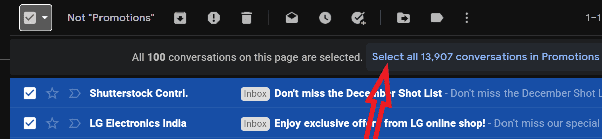 Delete email in group