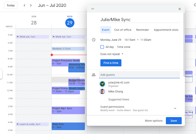 Improved Google Calendar event creation on the web 2