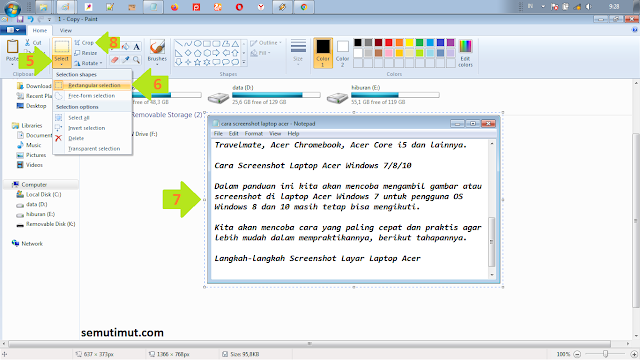 cara screenshot di laptop acer