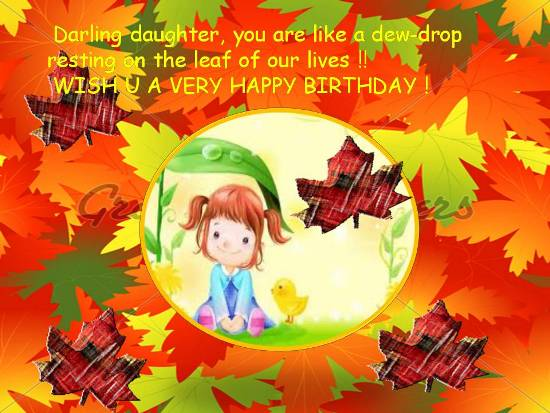 daughter wish you a very happy birthday