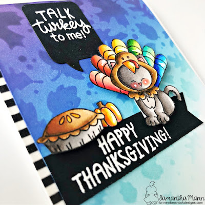 Talk Turkey to Me Card by Samantha Mann for Simon Says Stamp, Stamptember, Newton's Nook Designs, Thanksgiving Card, Card Making, Cards, Distress Inks, Ink Blending, Handmade Cards, #newtonsnook #newtonsnookdesigns #simonsaysstamp #stamptember #simonsayscreate #thanksgiving #thanksgivingcard