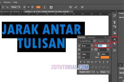 Tutorial Mengatur Jarak Tulisan dan Font di Photoshop (Line Spacing)