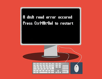 How to Fix A disk read error occured Press Ctrl+Alt+Del to restart