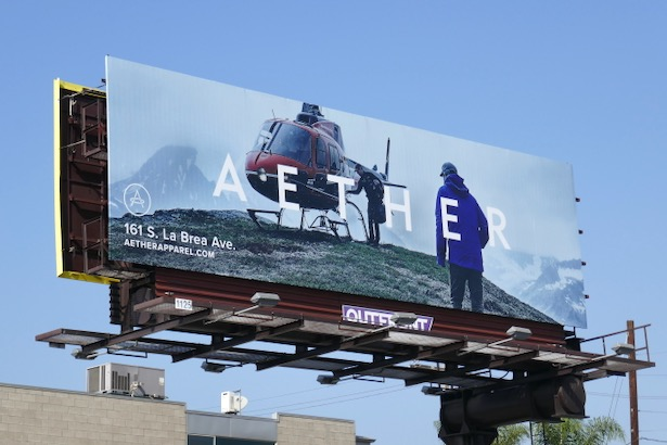 Aether Apparel FW19 billboard