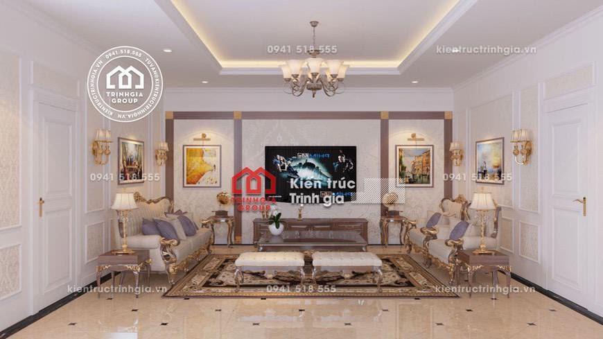 Thiết kế nội thất biệt thự tân cổ điển kiểu Pháp sang trọng - Mã số Nt4023 - Ảnh 3